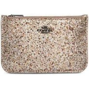 COACH Women's Glitter Zip Card Case